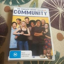 COMMUNITY DVD. THE COMPLETE SECOND SEASON DVD, 4 DISCS