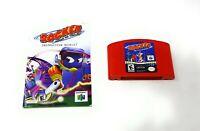Rocket: Robot on Wheels (Nintendo 64, 1999) N64 Game Cartridge w/Manual