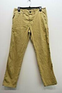 American Eagle Men Flat Front Slim Straight Leg Core Flex Chino Pants 30 x 30