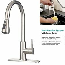 Faucet Pull Out Kitchen Commercial Household with Deck Plate Sink Bar  Faucets