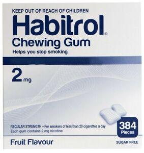Habitrol Nicotine Gum 2 mg Fruit Flavor 384 Pieces Bulk Box