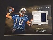 JAKE LOCKER 2011 Topps Inception 2 Color PATCH Rookie JERSEY Card #d /158 TITANS