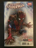 Amazing Spider-Man #1 2014 Gamestop Partial Sketch Variant Marvel Comic Book