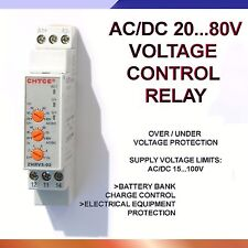 20V...80V AC/DC Protective Relay Against Over / Under Voltage 20V...80V Range