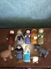 Knit Soft Alpaca Wool Hand Knit Nativity Scene Global Hope Fair Trade. Peru