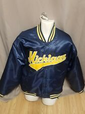 MICHIGAN WOLVERINES lined Embroidered Team Jacket Coat size Large