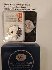 🔥 2020 W End World War Ii 2 75th American Silver Eagle V75 Ngc Pf70 70 Presale