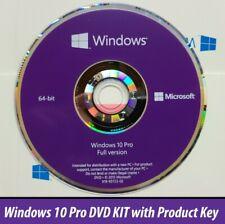 Microsoft Windows 10 Pro Professional  DVD + Product License Key COA