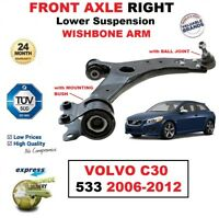 1x FRONT AXLE RIGHT Lower SUSPENSION Wishbone ARM for VOLVO C30 533 2006-2012