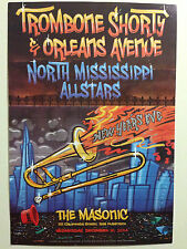 New Orleans Jazz Fest Music Trombone Drums Sax Horns Poster Repro FREE S//H