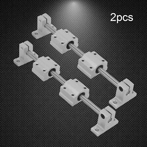 2X Linear Rails 200-400mm Shaft Rod + 4X SCS8UU Bearing Block For 3D Printer