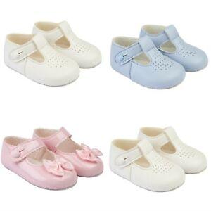 Baby Boy Girl Shoes Soft Soled Pram BAYPODS Bow Spanish Wedding Christening UK