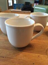 CRATE & BARREL WHITE PORCELAIN COFFEE MUGS SET OF 4