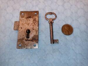 Cupboard Door Lock  Small Reversible As Found