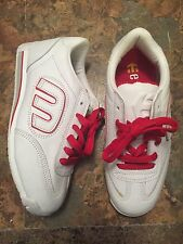 Etnies Lo Cut Skate Shoes Size 8.5 Mens Womens 10 White Red Rare OG Callicut