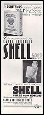 Publicité SHELL Station Service Motor Oil car vintage print ad 1936 -11h