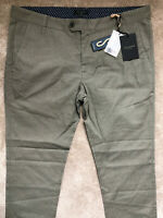 """TED BAKER OLIVE GREEN """"TINTEGA"""" SLIM FIT TROUSERS PANTS CHINOS - 38R - NEW TAGS"""