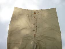WW2 US Military Trousers Cotton Khaki Button Fly 32x31 Chino 1943 Pattern