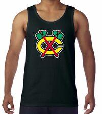 Chicago Blackhawks NHL Alternate Logo Black Tank Top Shirt Size Men's Medium