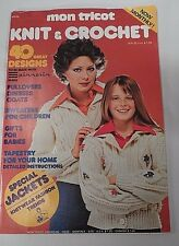 September 1975 Mon Tricot Knit & Crochet Magazine w/ 40 Great Patterns Jackets +