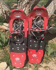 "PowdeRidge 25 Trail Walking Snowshoes 25 X 8"" Powder Ridge Hiking Snow Shoes Red"