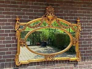 Beautiful French decorated wall mirror. Free worldwide shipping