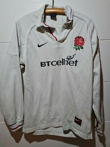 England 1999 2001 Nike BT Cellnet Rugby Shirt Long Sleeve Jersey Vintage Size S