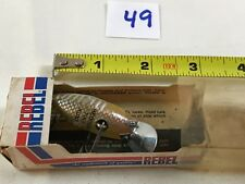 Vintage Antique Fishing Lures Wooden Wood Plastic Heddon Ting Runt w/ Box #49