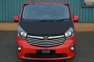 Black Front Bonnet Bra / Protector To Fit Vauxhall / Opel Vivaro (2014-19)