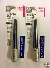 2 X Maybelline Shadow Stylist Eye Shadow OPULENT GREEN # 635 NEW.