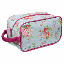Royal Covent Garden Box Make Up Cosmetics Bag Case ~ Oil Cloth Style