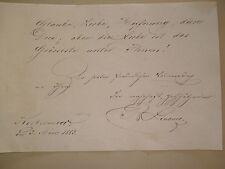 R. od. B. LINDNER KOLBERMOOR Regensburg 1883 Stammbuch Johann Georg Fischer