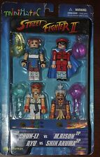 STREET FIGHTER II MINI MATES VERY RARE 4 PACK THIS IS ONLY ONE ON ALL OF E-BAY