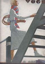 C1 Revue Mode VOGUE 1932 Jean PAGES Tennis ERIC Derain MIRO Berard STEICHEN