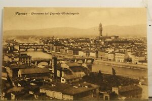 Italy Florence Michelangiolo Piazzale Panorama Postcard Old Vintage Card View PC