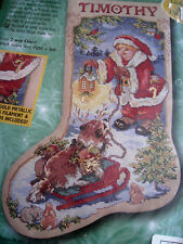 Christmas Bucilla Counted Cross Stocking KIT,LET'S PRETEND,Dog,84103,Gillum,18""