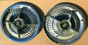 """1959 DODGE 15"""" WHEEL COVER SPINNER CAP PAIR USED ACCESSORY ROYAL LANCER"""