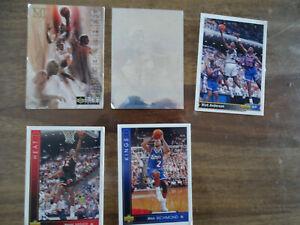 LOT 5 CARTES UPPER DECK MICHAEL JORDAN BASKETBALL HEROES CHECK LIST  NBA
