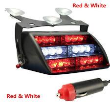 18 LED Red White Auto Car Dash Windshield Emergency Warning Strobe Flash Light