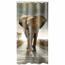 African Elephant Polyester Fabric Bathroom Shower Curtain 36*72Inch