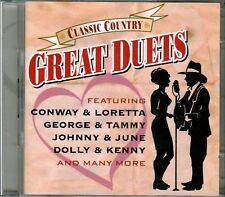 Time Life Classic Country Great Duets 2CD JOHNNY JUNE CASH DOLLY KENNY Rare