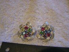 Vintage Sarah Coventry Colorful Earrings