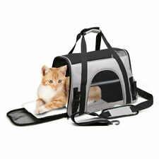 Pet Carrier Bag Soft Sided Travel Crate Puppy&Cat Comfort Tote Airline Approved