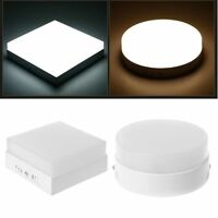 Square/Round Ceiling LED Light Surface Mounted Lamp Panel Non-dimmable Downlight