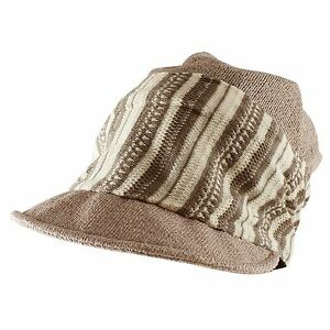 Morehats Striped Band Mesh Slouchy Fit Beanie Baseball Newsboy Cap Casual Hat