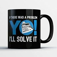 Accountant Coffee Mug - Yo I'll Solve It - Funny 11 oz Black Ceramic Tea Cup - C