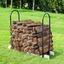 Metal Wood Log Rack Stacking Wood Steel Tubing Ups to 16 Feet High Outdoor