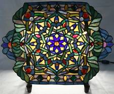 Table Lamp,TIFFANY STAINED GLASS PLATE on Stand