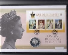 Mercury Coin FDC-£5 Sterling Silver Coin-Longest Reigning Monarch-2015
