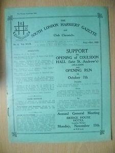 1933 Athletics Magazine-SOUTH LONDON HARRIERS GAZETTE & CHRONICLE- No.6,Vol.XLIX